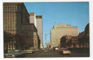 Dorchester Street Cars Montreal Quebec Canada postcard