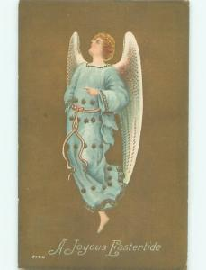 Pre-Linen Easter BEAUTIFUL ANGEL FLYING THROUGH THE AIR AB4041