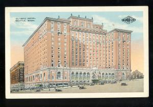 Seattle, Washington/WA Postcard, Olympic Hotel, Old Cars, 1929!