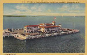 Florida St Petersburg Million Dollar Recreation Pier 1951 Curteich
