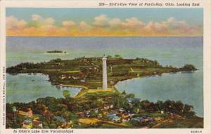 Ohio Put-In-Bay Birds Eye View Looking East 1954 Curteich