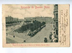 206637 ARGENTINA BUENOS AIRES Plaza surcharge RPPC to RUSSIA