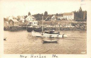 LP52  New Harbor   Maine     RPPC Postcard