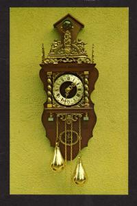 CA Old Wooden Clock, Hollywood, California Postcard,Telimpo Inc.Co, Hermle