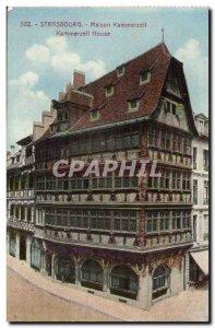 Strasbourg Carte Postale Ancienne Maison Kammerzell