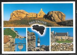 Bretagne (Brittany), France, writing on back. Not mailed