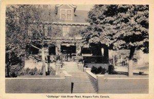 Cliffedge Tourist Home River Road Niagara Falls Canada postcard