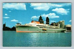Windsor Ontario- Canada, Aquarama, Luxury Passenger Cruiser, Chrome Postcard