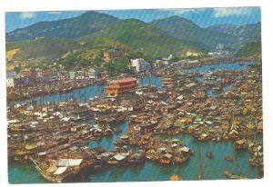 Bird's Eye View of Aberdeen, Hion Kong with Floating Seafood Restaurants, Har...
