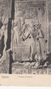 EGYPTE / Egypt , Temple d'Abydor carving , 1901-07