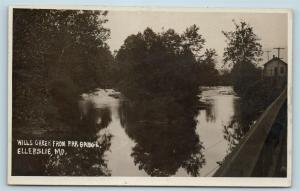 Postcard MD Ellerslie Wills Creek PRR Bridge RPPC Photo Allegany County c1920 S7