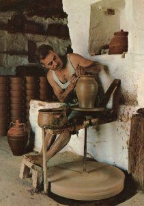 A Greek Potter Working Greece Postcard
