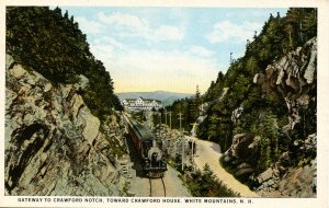 NH - Crawford Notch. Gateway, Train, Road, Crawford House Hotel