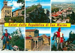 San Marino Repubblica Palace of the Government Crossbow Castles Postcard  # 8089