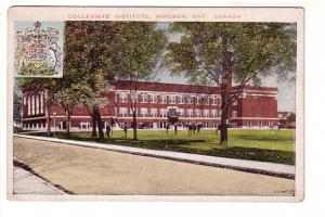 Collegiate Institute with Shield, High School, Windsor, Ontario,