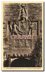 Postcard Old Hochkönigsburg Patch d & # 39Entree Portal