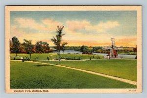 Holland MI, Windmill Park, Linen Michigan Postcard