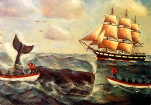 Whaling - Painting by Ellery F. Thompson