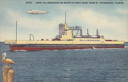 Ferry Hillsborough En Route To Piney Point From St Petersburg Florida