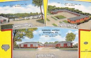 roebuck motels burmingham alabama Antique Postcard L3593