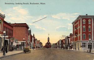 Rochester Minnesota business district south on Broadway antique pc Y11629