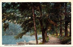 New York Poughkeepsie View Along Vassar Lake 1919 Curteich