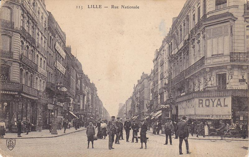 Street View, Store Fronts, Rue Nationale, LILLE (Nord), France, PU-1908