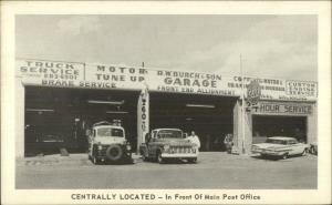 Texas??? Fort Worth?  R.W. Burch & Son Garage Trucks Roadside Adv Postcard