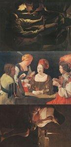 Georges De La Tour St Joseph La Madelaine Terff 3x Painting Postcard s