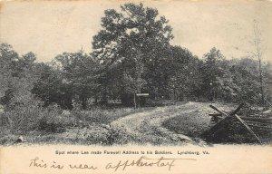 LP92 Lynchburg Virginia Postcard Civil War General Lee Farewell Troops