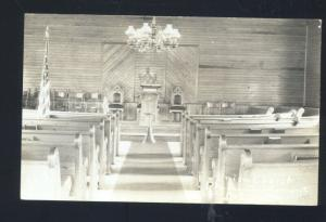 RPPC PLYMOUTH SUMMIT NEW JERSEY NJ CHURCH INTERIOR VINTAGE REAL PHOTO POSTCARD
