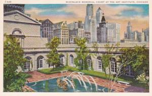 Illinois Chicago McKinlock Memorial Court At Art Institute 1956