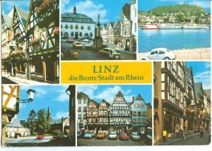 Germany, Linz, die Bunte Stadt am Rhein, 1970s used Postcard