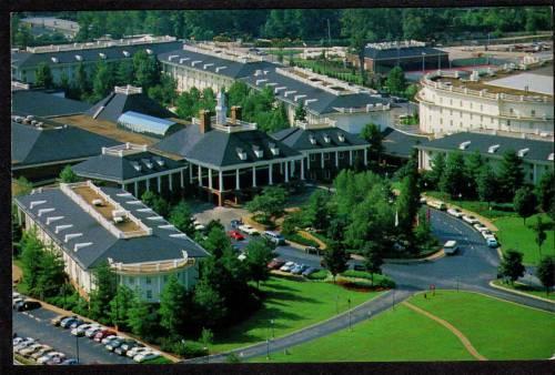 Tn Aerial View Opryland Hotel Nashville Tennessee Pc