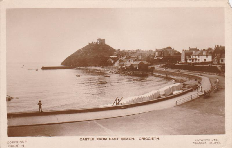 RP; Castle from East Beach, CRICCIETH, Wales, United Kingdom, 10-20s