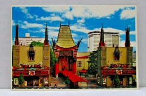 The World Famous Chinese Theatre Hollywood California Vintage Postcard