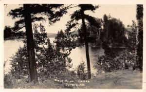 Patten Maine Birch Point Camp Scenic Real Photo Antique Postcard K46991