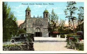Florida Miami Cocoanut Grove Plymouth Church 1923
