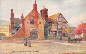 Sussex Old House Ditchling Postcard