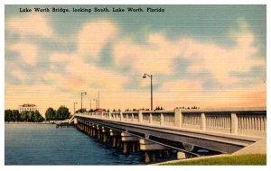 Florida  Lake Worth Bridge looking SOuth