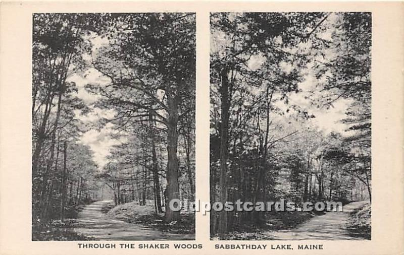 Old Vintage Shaker Post Card Sabbathday Lake, Maine, ME, USA Postcard Through...