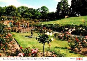 England Turnbridge Wells Calverley Grounds Rose Garden and Chinese Bell 1991