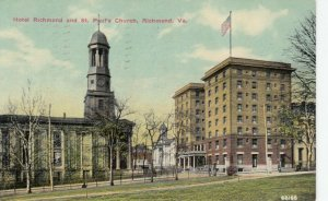 RICHMOND, Virginia, 1911 ; Hotel Richmond & St Paul's Church