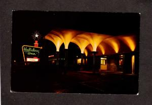 OK Holiday Inn Hotel Motel Bartlesville Oklahoma Postcard PC Night View