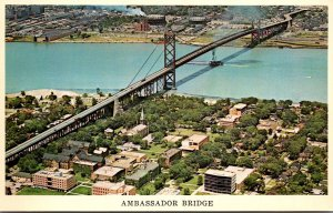 Michigan Detroit Ambassador Bridge To Windsor Canada