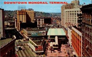 Washington Seattle Downtown Monorail Terminal Westlake Mall Coca Cola Sign