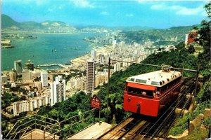 Postcard~The Peak Tramways~Hong Kong~China~Continental~Vintage~O6