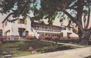 California Santa Barbara Pine Crest Lodge Handcolored Albertype