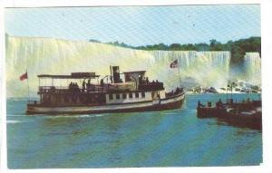 Maid Of The Mist Steamer Approaching Dock At Niagara Falls, Ontario, Canada, ...