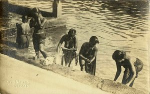 india, Native Nude Women Bathing in River (1910s) Klein & Peyerl Madras RPPC